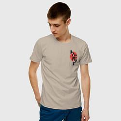 Футболка хлопковая мужская Baymax цвета миндальный — фото 2
