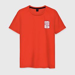 Футболка хлопковая мужская Baymax Big Hero 6 цвета рябиновый — фото 1