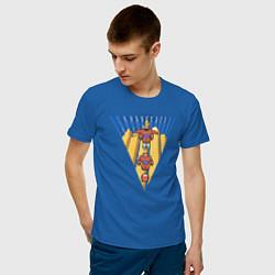 Футболка хлопковая мужская Бэймакс Город Героев 6 цвета синий — фото 2