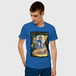 Футболка хлопковая мужская Fred цвета синий — фото 2