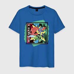 Футболка хлопковая мужская Big Hero 6 цвета синий — фото 1