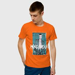 Футболка хлопковая мужская Макс Барских: Лей не жалей цвета оранжевый — фото 2