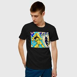 Футболка хлопковая мужская Дио идет на забив цвета черный — фото 2