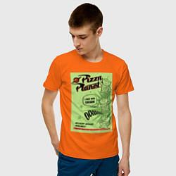 Футболка хлопковая мужская Pizza Planet цвета оранжевый — фото 2