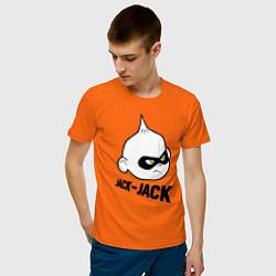 Футболка хлопковая мужская Jack-Jack цвета оранжевый — фото 2
