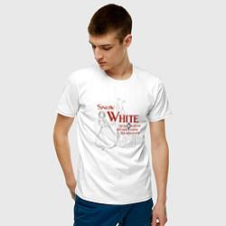 Футболка хлопковая мужская Белоснежка цвета белый — фото 2