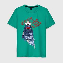 Футболка хлопковая мужская Злая королева цвета зеленый — фото 1