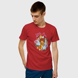 Футболка хлопковая мужская Little One цвета красный — фото 2