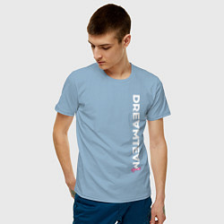 Мужская хлопковая футболка с принтом DreamTeam, цвет: мягкое небо, артикул: 10278383900001 — фото 2