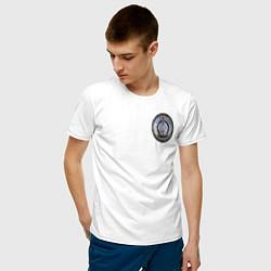 Футболка хлопковая мужская S W O R D цвета белый — фото 2