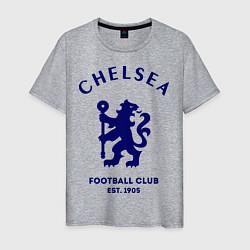 Футболка хлопковая мужская Chelsea Est. 1905 цвета меланж — фото 1