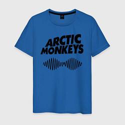Футболка хлопковая мужская Arctic Monkeys цвета синий — фото 1