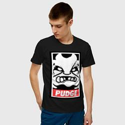 Футболка хлопковая мужская Pudge Poster цвета черный — фото 2
