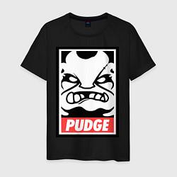 Футболка хлопковая мужская Pudge Poster цвета черный — фото 1