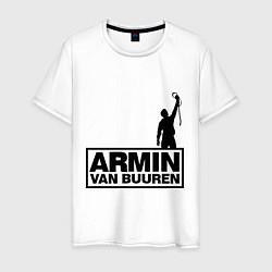 Мужская хлопковая футболка с принтом Armin van buuren, цвет: белый, артикул: 10036476600001 — фото 1