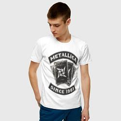 Футболка хлопковая мужская Metallica: since 1981 цвета белый — фото 2