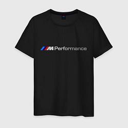Футболка хлопковая мужская BMW M Performance цвета черный — фото 1