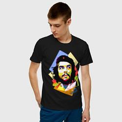 Футболка хлопковая мужская Che Guevara Art цвета черный — фото 2