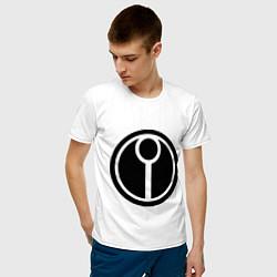 Футболка хлопковая мужская Герб Тау цвета белый — фото 2