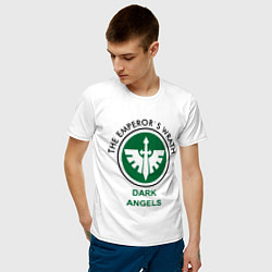 Футболка хлопковая мужская Темные Ангелы цвета белый — фото 2