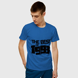Футболка хлопковая мужская The best of 1993 цвета синий — фото 2