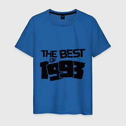 Футболка хлопковая мужская The best of 1993 цвета синий — фото 1