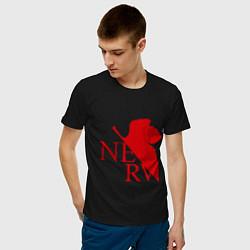 Футболка хлопковая мужская Евангелион NERV цвета черный — фото 2