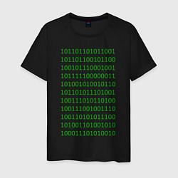 Мужская футболка Двоичный код