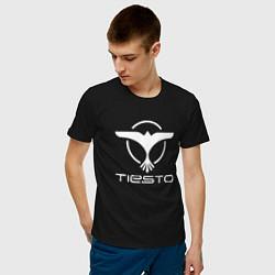 Футболка хлопковая мужская Tiesto цвета черный — фото 2