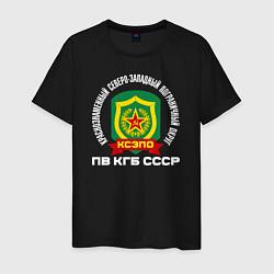 Футболка хлопковая мужская КСЗПО СССР цвета черный — фото 1