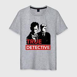 Футболка хлопковая мужская True Detective цвета меланж — фото 1
