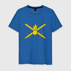 Мужская хлопковая футболка с принтом Сухопутные войска, цвет: синий, артикул: 10062442100001 — фото 1