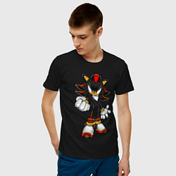 Футболка хлопковая мужская Sonic Shadow цвета черный — фото 2