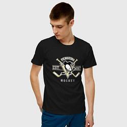 Футболка хлопковая мужская Pittsburgh Penguins: Est.1967 цвета черный — фото 2