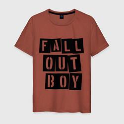 Футболка хлопковая мужская Fall Out Boy: Words цвета кирпичный — фото 1