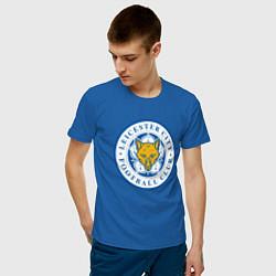 Футболка хлопковая мужская Leicester City FC цвета синий — фото 2