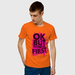 Футболка хлопковая мужская Fitness First цвета оранжевый — фото 2
