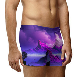 Трусы-боксеры мужские No Man's Sky: Neon Mountains цвета 3D — фото 2