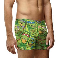 Трусы-боксеры мужские Teenage Mutant Ninja Turtles цвета 3D-принт — фото 2