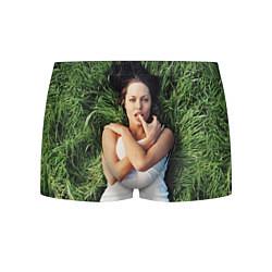 Трусы-боксеры мужские Анджелина Джоли цвета 3D-принт — фото 1