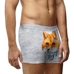 Трусы-боксеры мужские Милая лисичка! цвета 3D — фото 2
