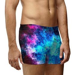 Трусы-боксеры мужские Голубая вселенная цвета 3D — фото 2