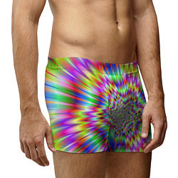 Трусы-боксеры мужские Спектральная иллюзия цвета 3D — фото 2