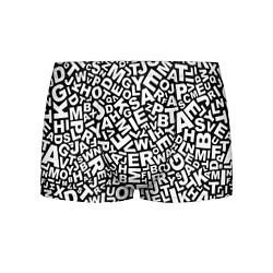 Трусы-боксеры мужские Английский алфавит цвета 3D-принт — фото 1