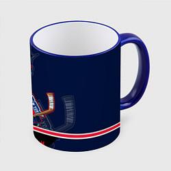 Кружка 3D New York Rangers цвета 3D-синий кант — фото 1