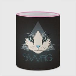 Кружка 3D Cat цвета 3D-розовый кант — фото 2
