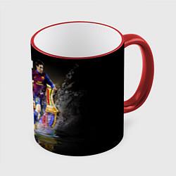 Кружка 3D Messi FCB цвета 3D-красный кант — фото 1