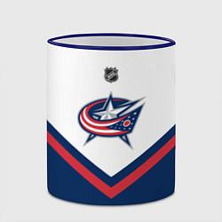 Кружка 3D NHL: Columbus Blue Jackets цвета 3D-синий кант — фото 2