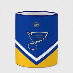 Кружка 3D NHL: St. Louis Blues цвета 3D-синий кант — фото 2