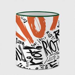 Кружка 3D Paramore: Riot цвета 3D-зеленый кант — фото 2
